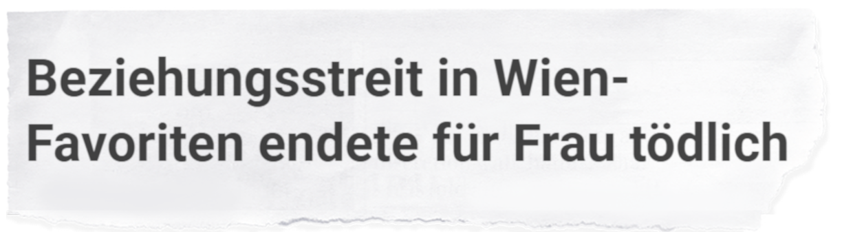 """""""Beziehungsstreit in Wien-Favoriten endete für Frau tödlich"""""""